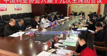 中国钨业协会六届十九次主席团会议召开