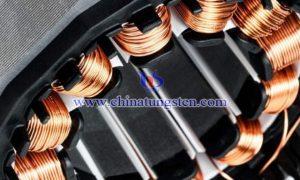 稀土永磁电机上的铜漆包线图片